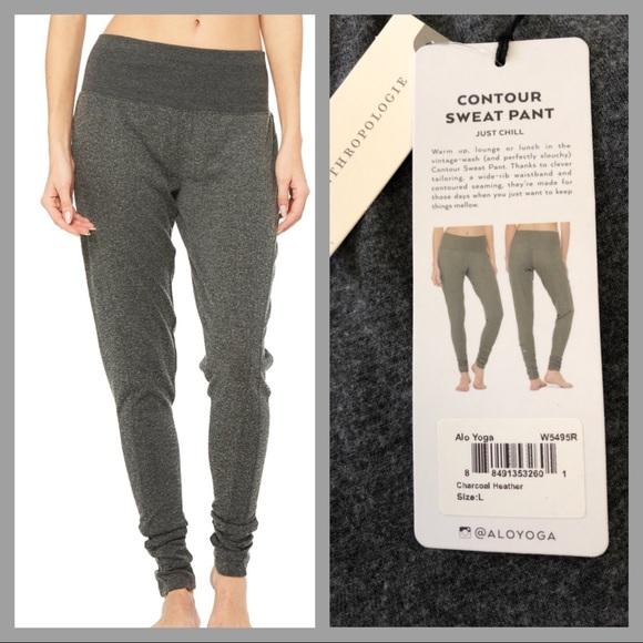 a9b66e22d4 ALO Yoga Pants | Nwt Anthropologie Sweat In Charcoal | Poshmark